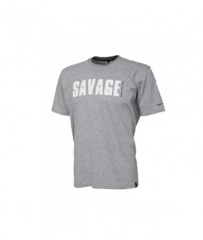 Savage Gear Simply Savage Tee-Light Grey Melange