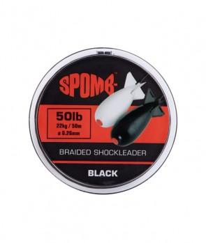 Spomb Braided leader 22kg / 50lb Black