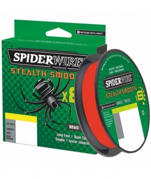 Spiderwire Stealth 8 Smooth Red 150m New Pack