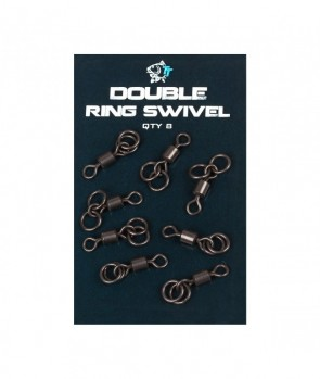 Nash Double Ring Swivel 8pcs