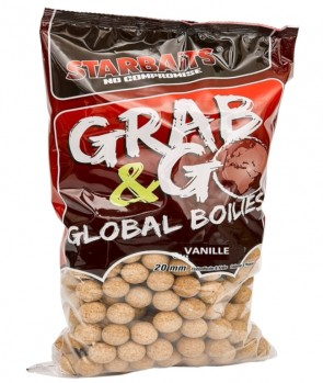 Starbaits Grab & Go Global Boilies Vanille 20mm 10kg