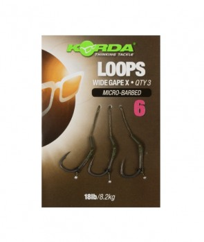 Korda Loop Rigs DF Wide Gape X 18lb