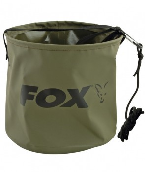 Fox Collapsible Large Water Bucket Inc Rope/Clip