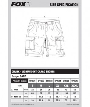 Fox Chunk Lightweight Cargo Shorts Camo